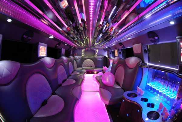 Cadillac Escalade limo interior montgomery